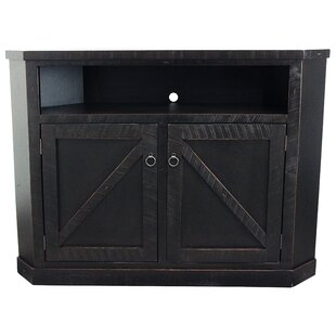 Bodiam Solid Wood Corner TV Stand For TVs Up To 65