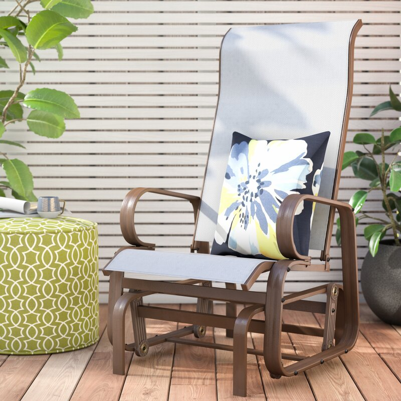 Swick Outdoor Mesh Fabric Patio Glider Chair