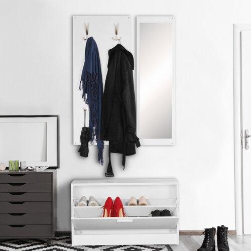 Garderoben-Set 17 Stories Farbe: Weiß | Flur & Diele > Garderoben > Garderoben-Sets | 17 Stories