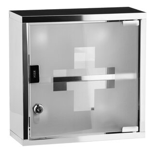 Read Reviews Cedric Stainless Steel 30cm X 30cm Surface Mount Medicine Cabinet
