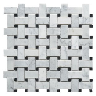 black and white marble tile floor. Carrara Basketweave 1  X 2 Marble Mosaic Tile In White Black You Ll Love Wayfair