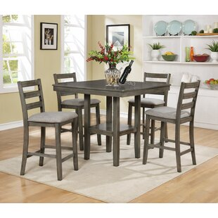 Darby Home Co Gorlest 5 Piece Pub Table Set
