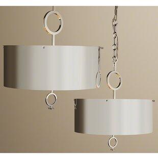 Pendant light with chain wayfair deco chain drum pendant aloadofball Image collections