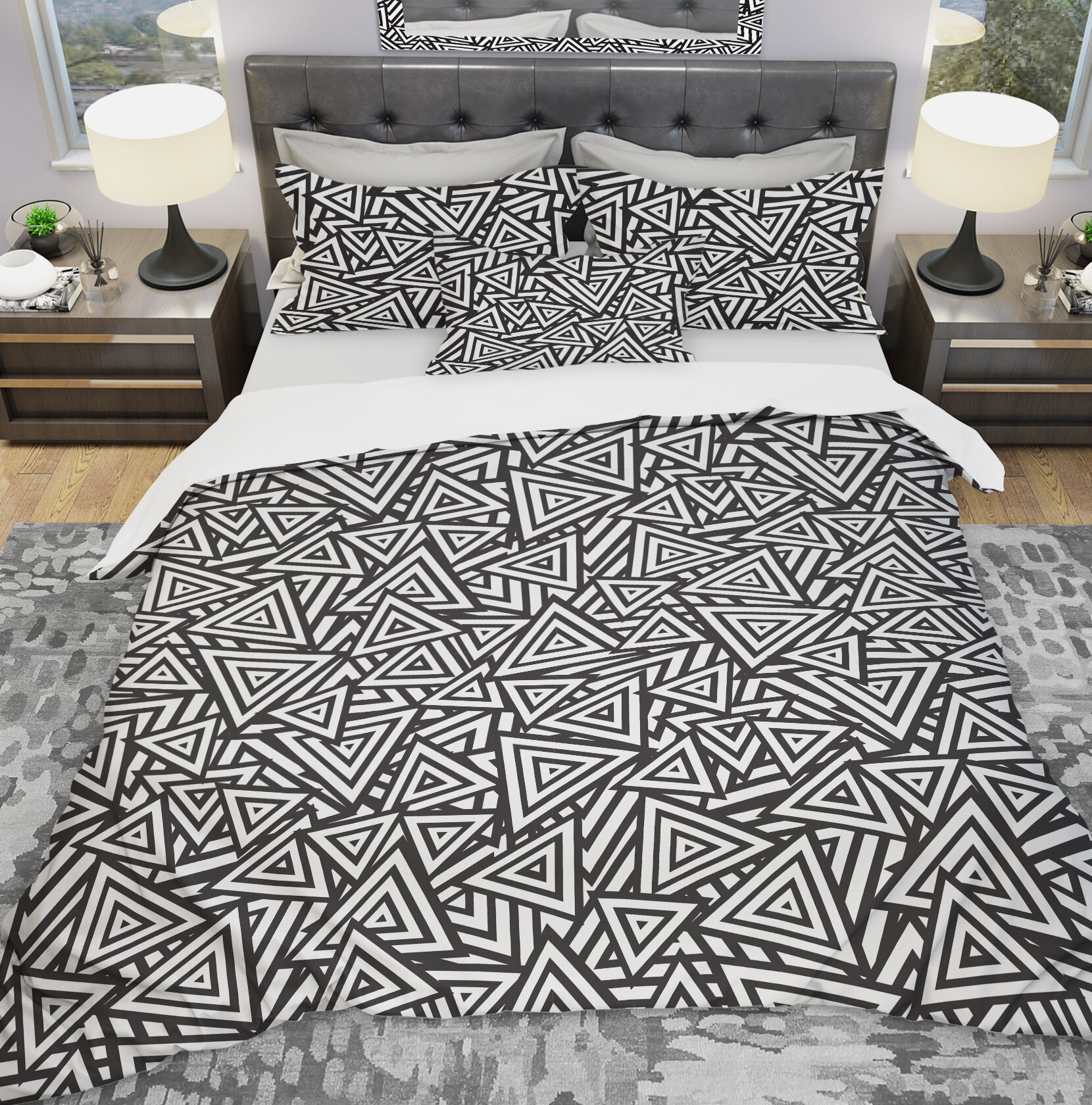 Beauty Decor Ethnic Style Duvet Cover Set Geometric Triangle