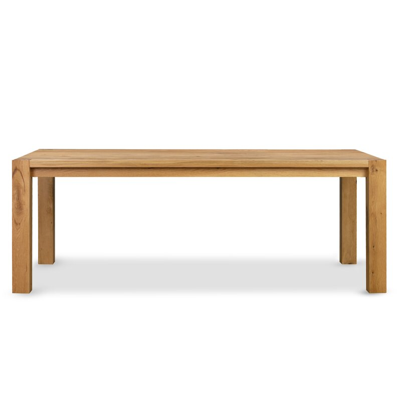 Foundry Select Bollinger Solid Oak Dining Table Wayfair