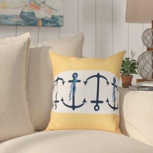 Hancock Anchor Stripe Print Throw Pillow
