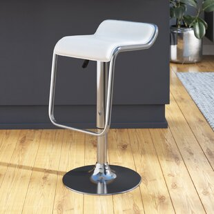 Inexpensive Kinton Adjustable Height Swivel Bar Stool by Wade Logan Reviews (2019) & Buyer's Guide