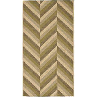 Mullen Cream/Olive Indoor/Outdoor Area Rug