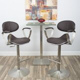 Blythdale Swivel Adjustable Height Bar Stool by Orren Ellis