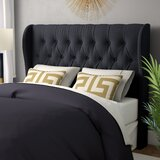 Ansley Upholstered Wingback Headboard by Willa Arlo Interiors