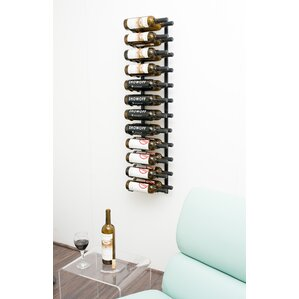 24 bottle metal wall mounted wine rack