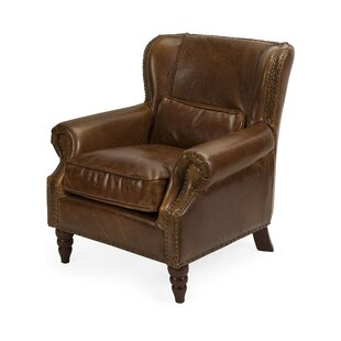 Darby Home Co Avian Elegant Leather Club Chair
