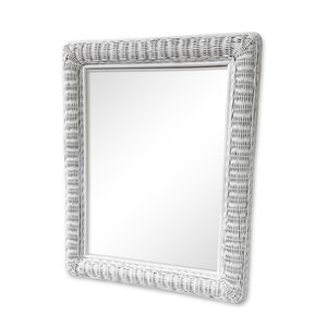 Large Rectangular Wicker Mirror