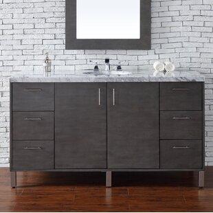 Cordie Modern 60 Single Silver Oak Bathroom Vanity Set by Orren Ellis