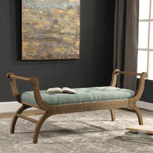 Skye Scroll Wood Bench