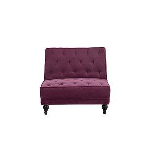 Charlton Home Damico Diamond Tufted Convertible Chair