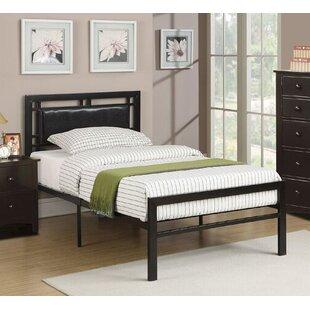 Harriet Bee Noemi Leather Twin Panel Bed