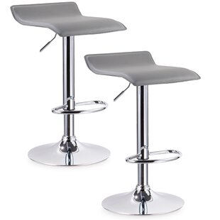 Orren Ellis Eilerman Adjustable Height Swivel Bar Stool (Set of 2)