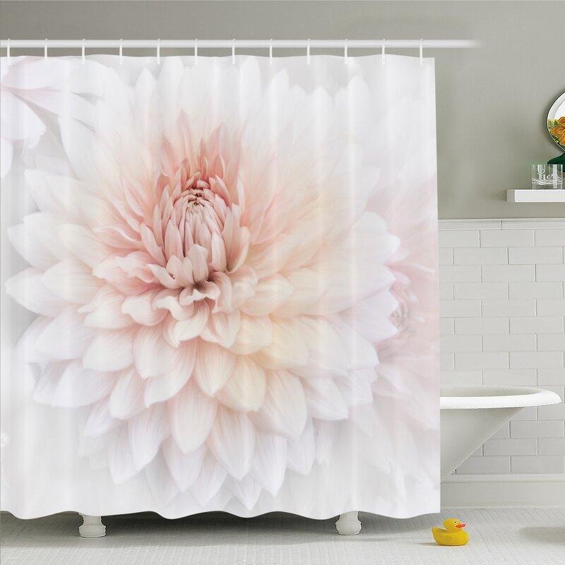 Blossom With Distinct Macro Petals Vine Herbs Seeds Natural Wonder Image Shower Curtain Set