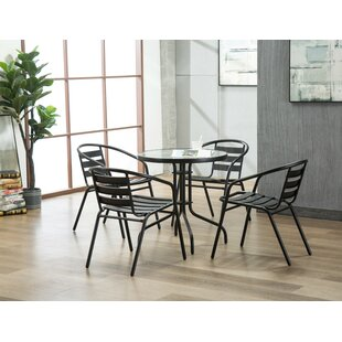 Highland Dunes Bemadette 5 Piece Dining Set