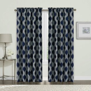 Patricia Geometric Room Darkening Curtain Panels (Set of 2) by Mistana