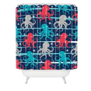 Zoe Wodarz Octopus Under The Sea Single Shower Curtain