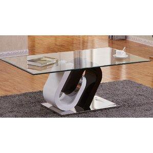 Brook Glass Top Coffee Table by Orren Ellis