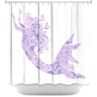 Bellingham Mermaid Rose Quartz Single Shower Curtain
