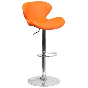 Orren Ellis Oakgrove Adjustable Height Swivel Bar Stool
