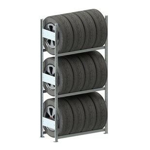 META Storage Solutions Inc. Clip S3 Tire Rack Basic Shelving Unit (Set of 2)