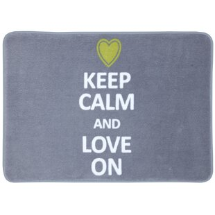 Franko Keep Calm Love Bath Mat