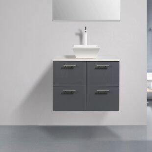 Ophir 40 Wall-Mounted Single Bathroom Vanity by Orren Ellis