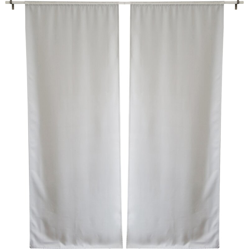 Solid Blackout Thermal Curtain Liners Set Of 2