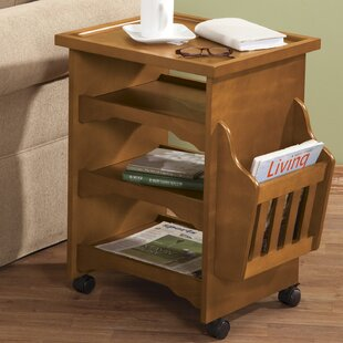 Deluxe Rolling Multipurpose End Table