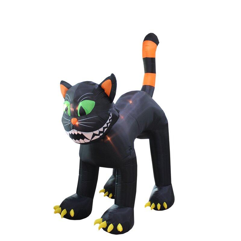 Halloween Air Blown Inflatable Yard Blowup Decoration Jumbo Size Black Cat Decor