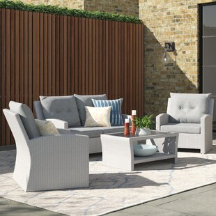 Angelyn 4 Seater Rattan Sofa Set By Sol 72 Outdoor