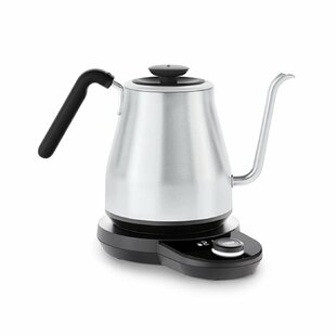 1.05 Qt. Adjustable Temperature Gooseneck Stainless Steel Electric Tea Kettle