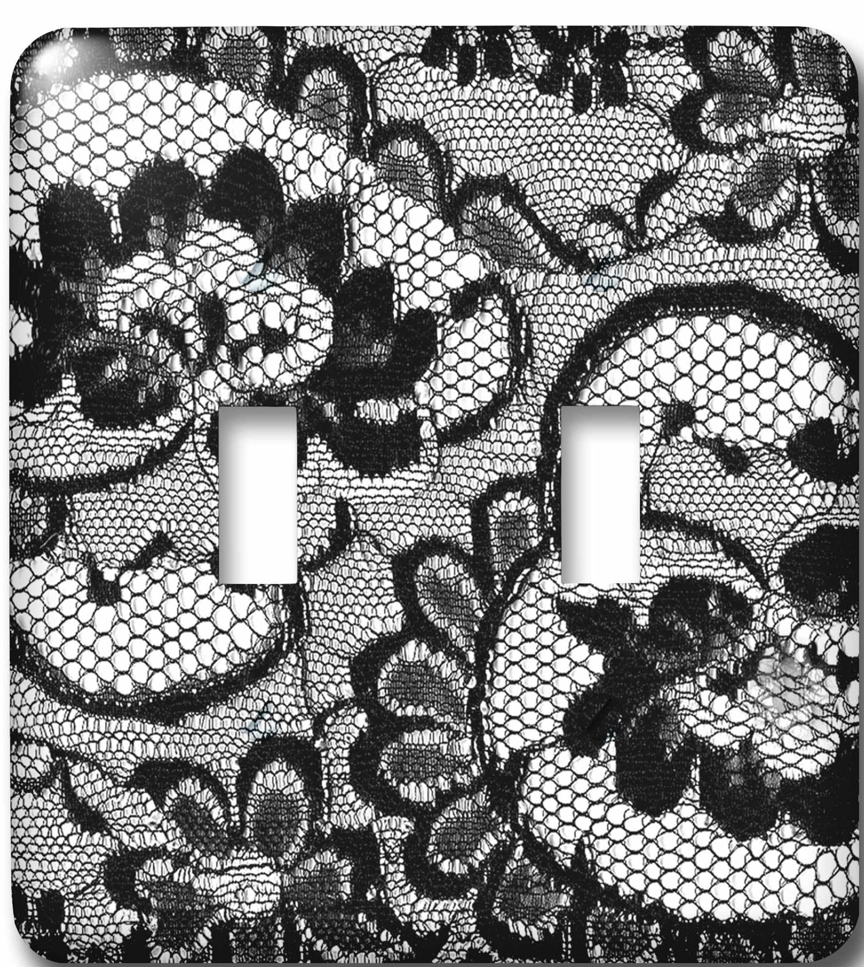 3drose Sassy Lace Print Perfect For Bachelorette Or Lingerie Parties 2 Gang Toggle Light Switch Wall Plate Wayfair