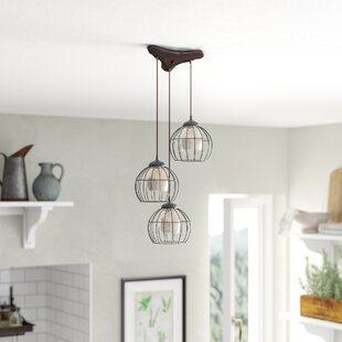 Laurel Foundry Modern Farmhouse Dublin 3-Light Cascade Pendant