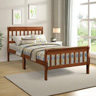 Amarmula Twin Solid Wood Sleigh Bed