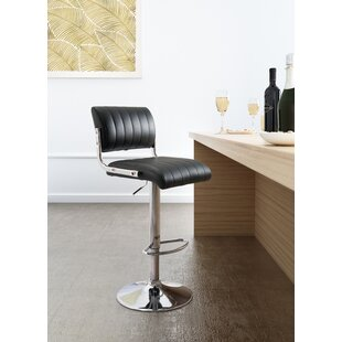 Sirius Adjustable Height Bar Stool by Orren Ellis