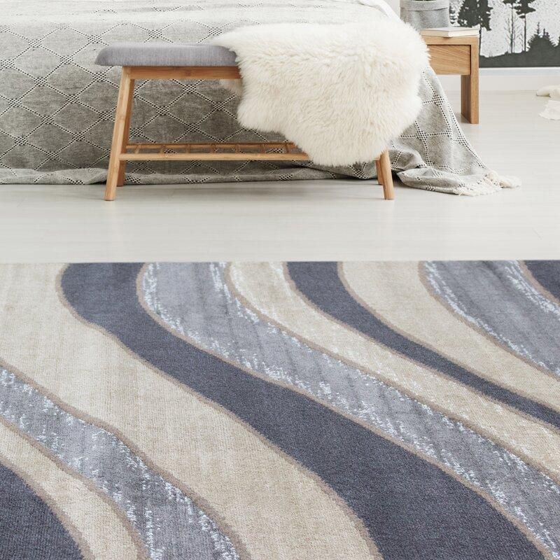 Novelle Home Steppen Striped Gray Area Rug Wayfair
