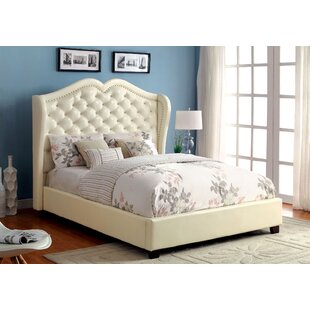 Upholstered Platform Bed by A&..