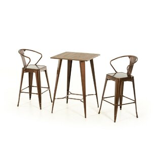 Ashleigh 3 Piece Pub Table Set