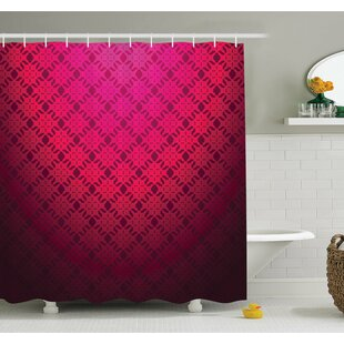 Damask Textured Embellished Geometric Figures Romantic Style Vintage Art Print Shower Curtain Set