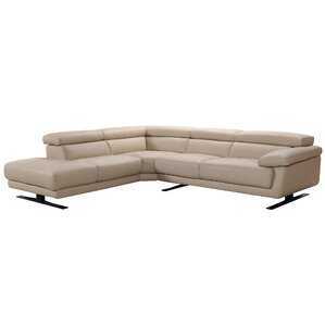 Orren Ellis Coalpit Heath Leather Reclining Sectional Image