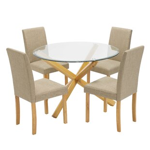 Hawkinsville Dining Set With 4 Chairs By Brayden Studio