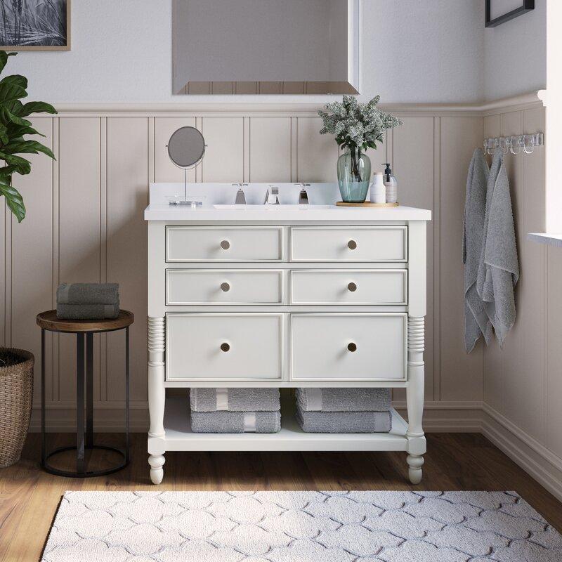 Martha Stewart Bedford Cottage 36 Single Bathroom Vanity Set Reviews Wayfair