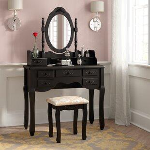 Rosdorf Park Charlemagne Vanity Set with Mirror