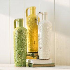 Nadeau 3 Piece Ceramic Table Vase Set (Set of 3)